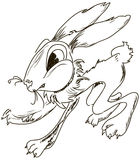 Evil cartoon rabbit Royalty Free Stock Photo