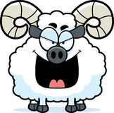 Evil Cartoon Ram Royalty Free Stock Images