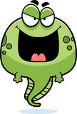 Evil Cartoon Tadpole Stock Image