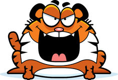 Evil Cartoon Tiger Royalty Free Stock Photo
