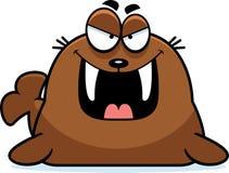 Evil Cartoon Walrus Stock Image