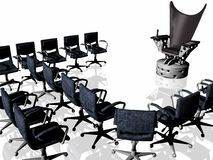 Evil chair of your boss Royalty Free Stock Photo