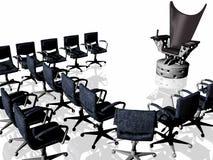 Evil chair of your boss. 3d evil chair of your boss Royalty Free Stock Photo