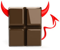Evil chocolate Stock Photo