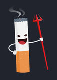 Evil Cigarette Cartoon Character Stock Photos