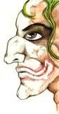 Evil clown. An evil clown with a crazy smile vector illustration