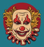 Evil clown. Can be used as banner for halloween, vector illustration royalty free illustration