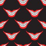 Evil clown or card joker smile seamless pattern Royalty Free Stock Photography