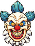 Evil clown. Evil cartoon clown. Vector clip art illustration with simple gradients. All in a single layer royalty free illustration