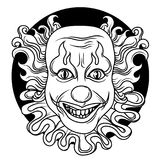 Evil clown Royalty Free Stock Image