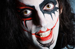 Evil clown face Royalty Free Stock Photo