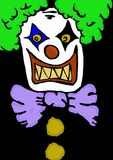 Evil clown. Image of an evil clown Royalty Free Stock Image