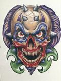 Evil clown Stock Image
