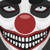 Evil Clown smiling Face Stock Photo