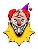 Evil clown. Evil smiling clown isolated on white background vector illustration