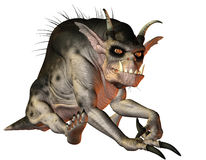 Evil creature sitting. 3D Rendering of a Evil creature sitting Royalty Free Stock Images