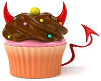 Evil cupcake Royalty Free Stock Photography