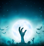 Evil dead. Halloween background, eps 10 Royalty Free Stock Photos