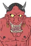 Evil demon face Stock Image