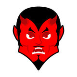 Evil Devil. Angered by Satan. Red Demon furious. Angry Lucifer. Royalty Free Stock Photography