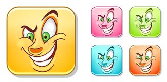 Evil Devil Emoticons collection Royalty Free Stock Photos