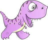 Evil Dinosaur Vector royalty free illustration