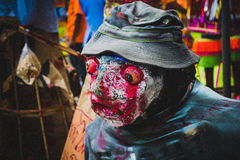 Evil doll from Ancestor Worship Festival in Thailand royalty free stock image