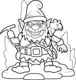 Evil dwarf and rat Stock Photo
