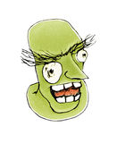 Evil Expression Face Mad Monster Royalty Free Stock Photo