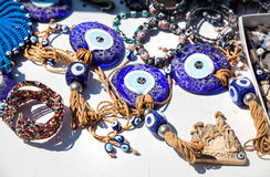 Evil eye amulet in the shop Royalty Free Stock Images