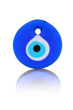 Evil eye bead (amulet) isolated on white Stock Photos