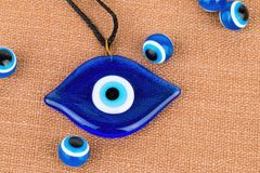 Evil eye bead. Stock Photo