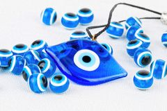 Evil eye bead. Royalty Free Stock Photos