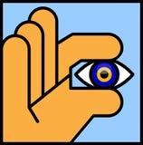 Evil Eye Bead. Vector illustration of an Abstract Human Hand Holding an Evil Eye Bead. Illustrator eight, global colors, easily editable royalty free illustration