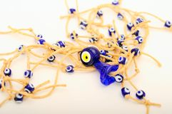 Evil eye beads Royalty Free Stock Photo