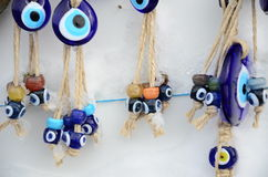 Evil eye beads Stock Photos