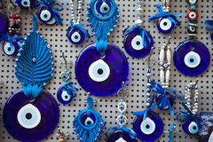 Evil Eye. Charm for sale at athens greece Royalty Free Stock Images