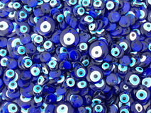 Evil eye charms Stock Photography