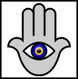 Evil Eye in Hamsa Hand Royalty Free Stock Images