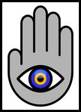Evil Eye in Hand Royalty Free Stock Photo