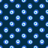 Evil eye pattern. Vector dark Turkey seamless texture Stock Photography