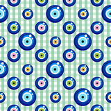 Evil eye seamless pattern Stock Image
