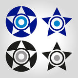 Star and evil eye logo vector illustration vector illustration