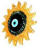 Evil eye on sun Royalty Free Stock Photos