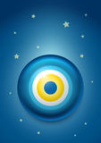 Evil eye. Vector illustration of evil eye - Turkish amulet (nazar boncuÄŸu vector illustration