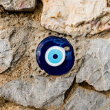 Evil eye. On the wall Stock Photography