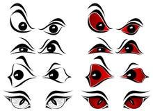 Evil eyes. Set of evil eyes on white background, illustration Royalty Free Stock Photography