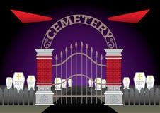 Evil Eyes Cemetery vector Stock Image