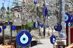 Evil eyes. Evil eye charms in Cappadocia, Turkey Stock Images