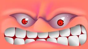 Evil face . stock illustration